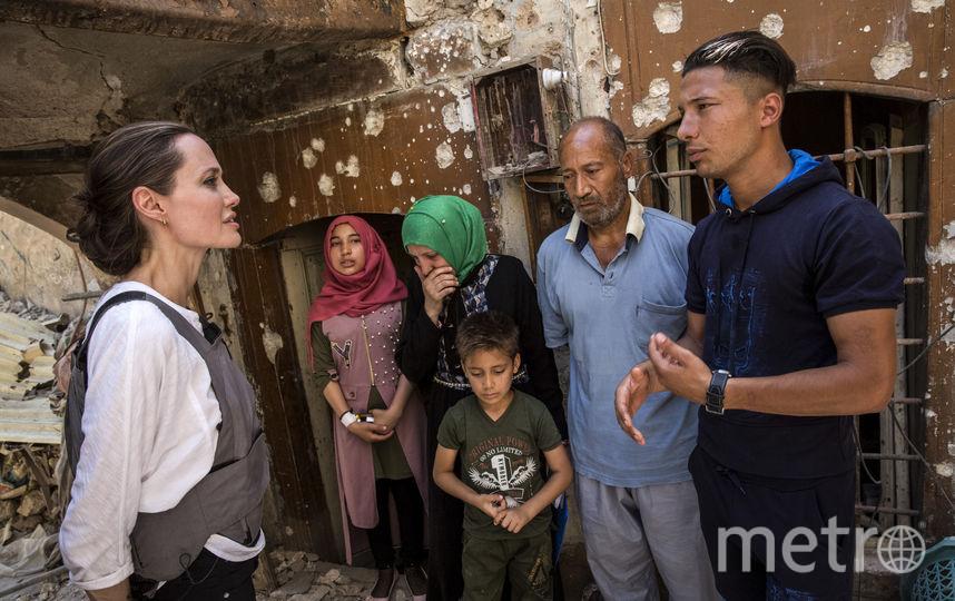 Анджелина Джоли в Мосуле. Фото Getty