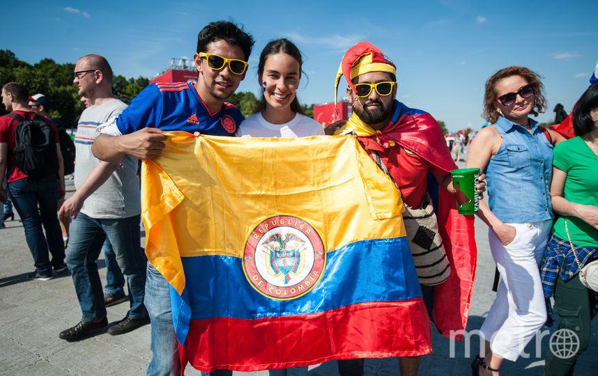 Колумбийцы с радостью фотографировались, но инициативы от них корреспондент Metro не дождалась. Фото Игорь Генералов