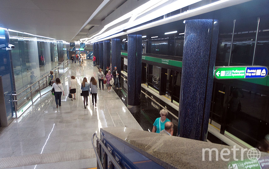 "Станция у стадиона ""Санкт-Петербург"". Фото ""Metro"""