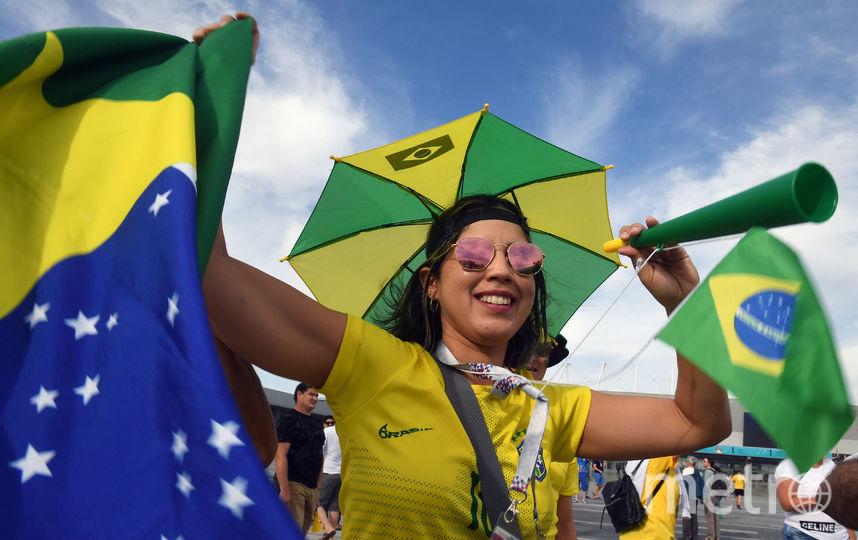 Болельщица матча Бразилия – Швейцария. Фото AFP