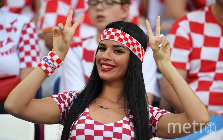 Болельщица сборной Хорватии на матче Хорватия – Нигерия, 16 июня. Фото AFP