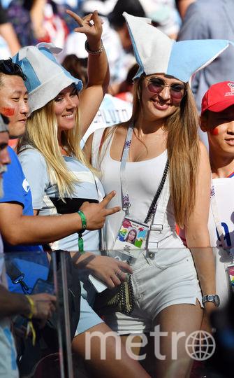 Болельщицы сборной Аргентины на матче Аргентина – Исландия. Фото AFP