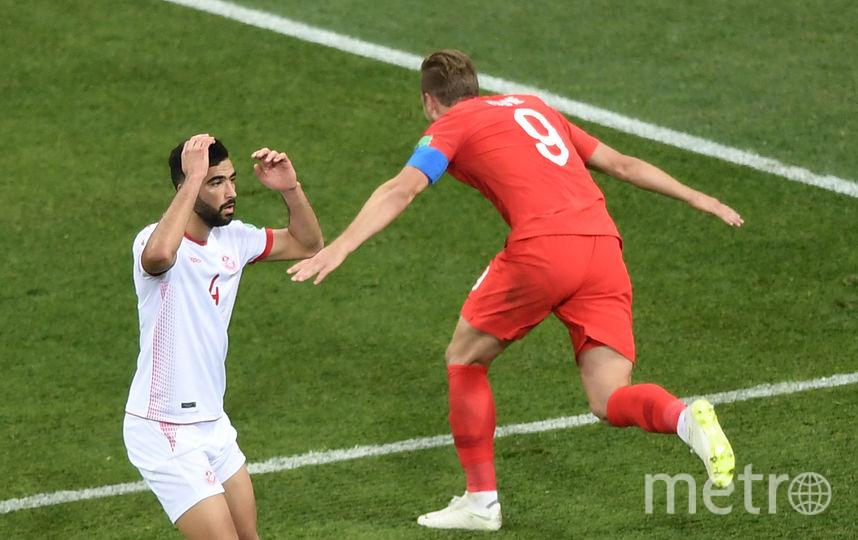 Харри Кейн забивает второй мяч в ворота сборной Туниса в добавленное время. Фото AFP