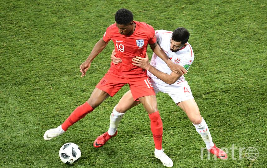 Фрагмент матча Англия - Тунис в Волгограде. Фото AFP