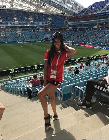 Болельщица на матче Бельгия – Панама. Фото Instagram/yulya_zyukova07