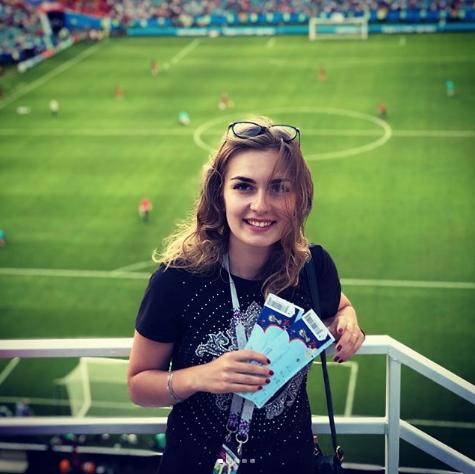 Болельщица на матче Бельгия – Панама. Фото Instagram/ashvilya_13