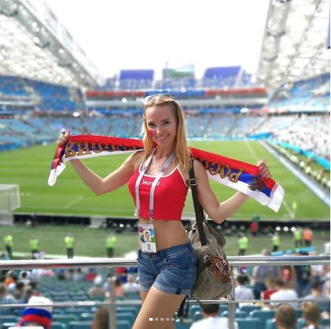 Болельщица на матче Бельгия – Панама. Фото Instagram/m_alexiya
