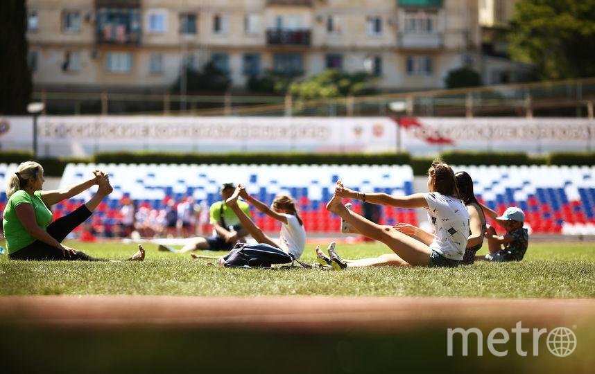 Мастер-класс по йоге. Фото Предоставлено организаторами мероприятия.