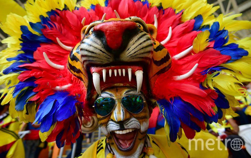 Фанаты сборной Колумбии. Фото AFP