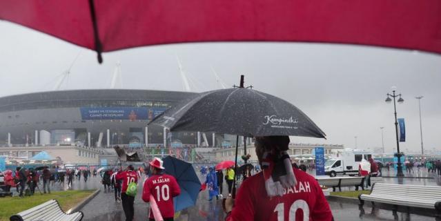 Ливень напугал египтян перед матчем со сборной России
