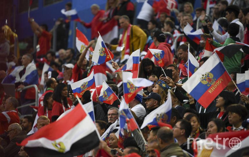 Первые кадры матча Россия - Египет. Фото AFP