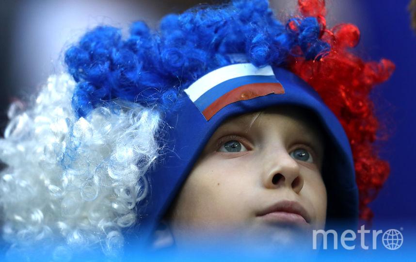 Фанаты сборной России на стадионе на Крестовском острове. Фото Getty