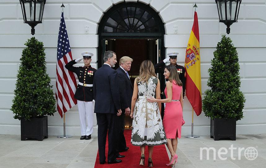 Мелания Трамп и Дональд Трамп - визит короля Испании с женой в США. Фото Getty