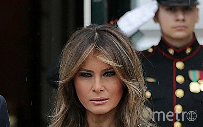 Выражение лица Мелании вызвало вопросы. Фото Getty