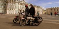 Чехи приехали в Петербург на мотоциклах 70-х годов