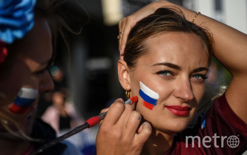 Болельщица на матче Россия – Египет в Санкт-Петербурге. Фото AFP