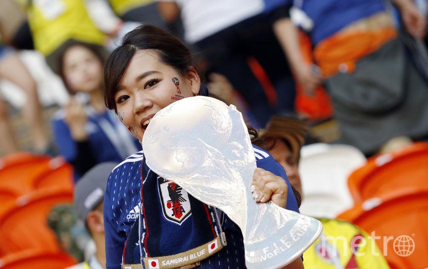 Болельщица на матче Колумбия – Япония в Саранске. Фото AFP