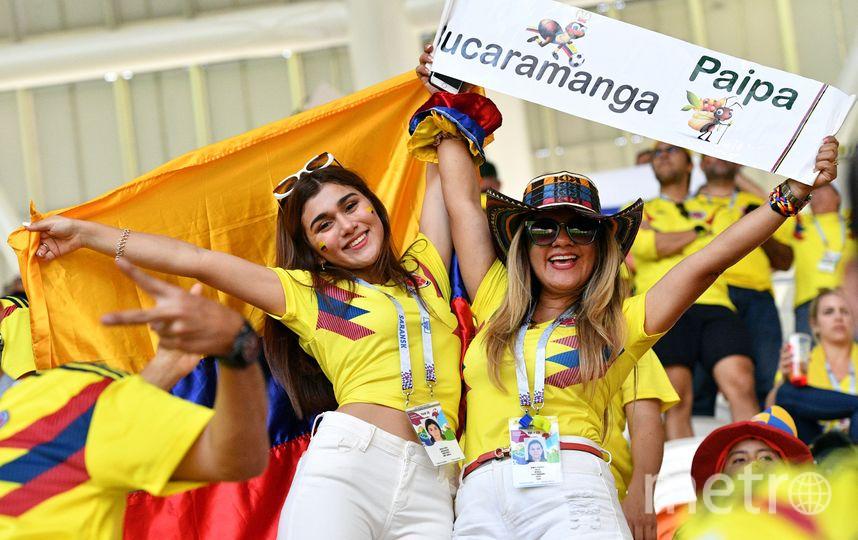 Болельщицы на матче Колумбия – Япония в Саранске. Фото AFP