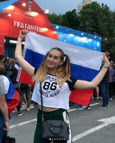 Болельщица сборной России по футболу. Фото Instagram/ulyana.egupova