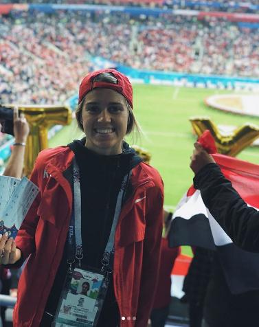 Болельщица сборной России по футболу. Фото Instagram/boykova_kristina