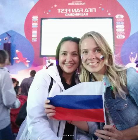 Болельщицы сборной России по футболу. Фото Instagram/liloklimenko