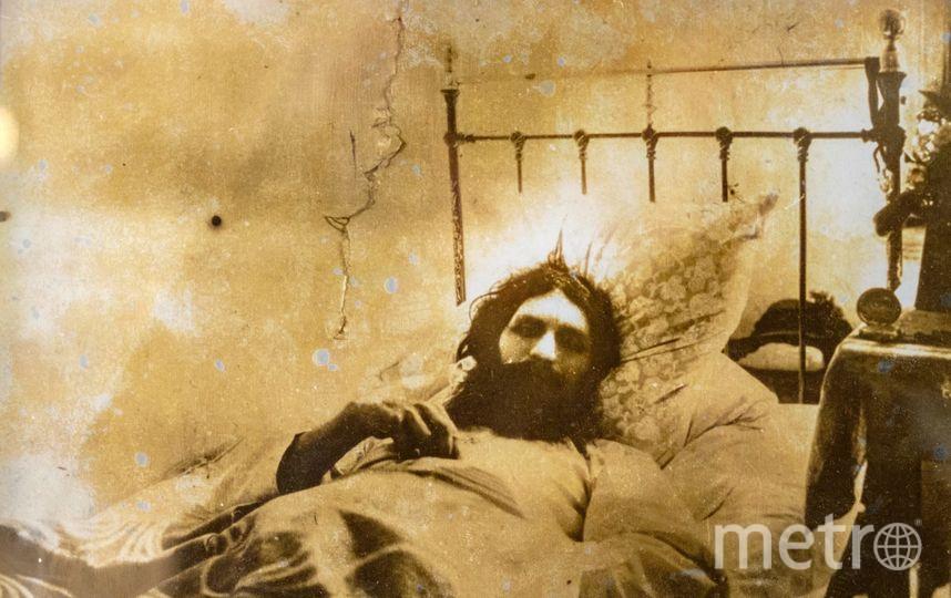 Распутин после первого покушения в Тюменской больнице. Фото музей Распутина в селе Покровское