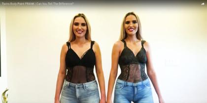 Прохожие в Голливуде не смогли отличить одетую женщину от голой