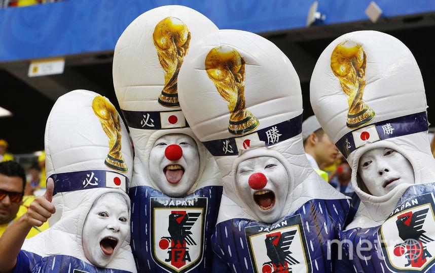 Болельщики из Японии на ЧМ-2018. Фото AFP