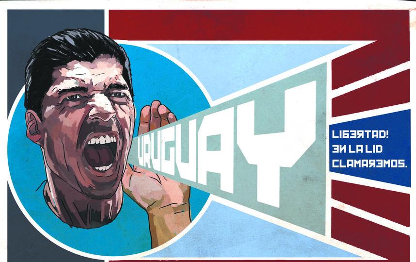 Нападающий сборной Уругвая Луис Суарес. Фото Фабрицио Биримбелли