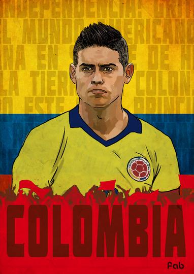 Игрок сборной Колумбии Родригес. Фото Фабрицио Биримбелли
