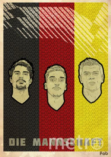 Игроки сборной Германии. Фото Фабрицио Биримбелли