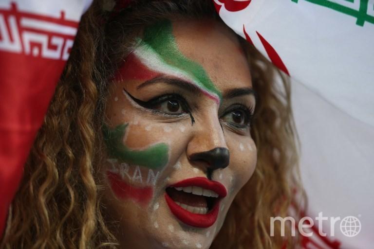 Болельщицы на матче Иран - Испания в Казани. Фото AFP