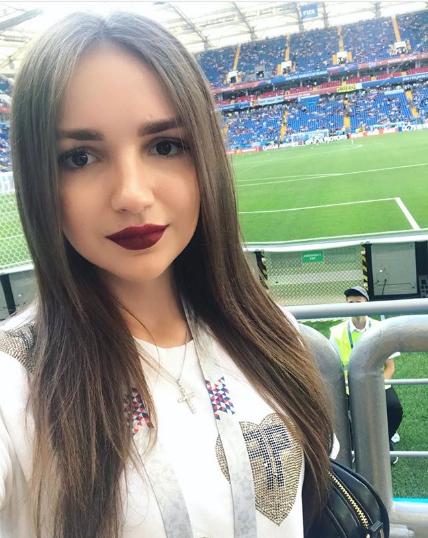 Фанатка на матче Уругвай - Саудовская Аравия в Ростове. Фото Instagram -mrs_nata_