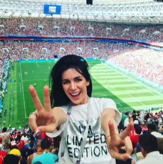 "Фанатка на матче Марокко - Португалия в ""Лужниках"". Фото Instagram lusine7007"