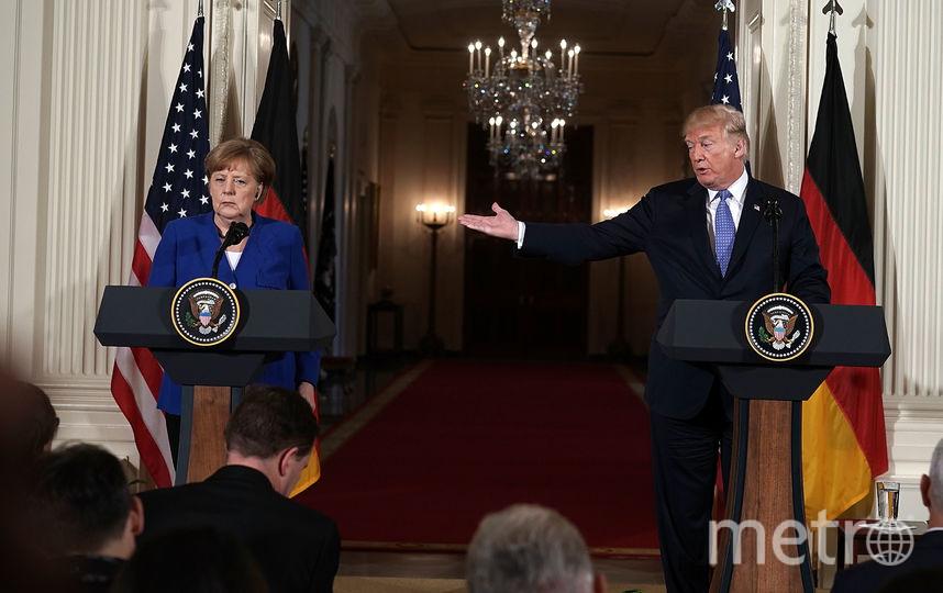 Дональд Трамп и Ангела Меркель. Фото Getty