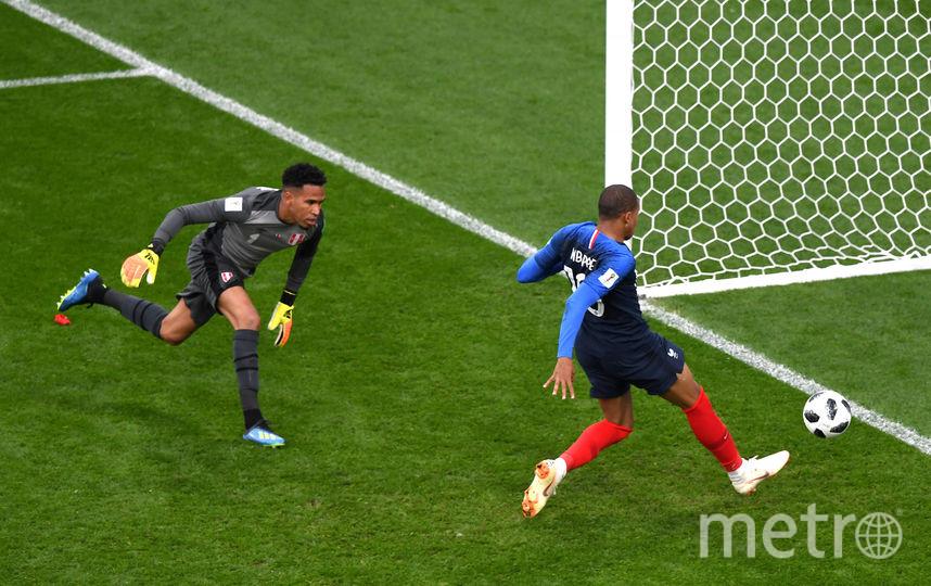 Нападающий сборной Франции Килиан Мбаппе забил единственный гол.. Фото Getty