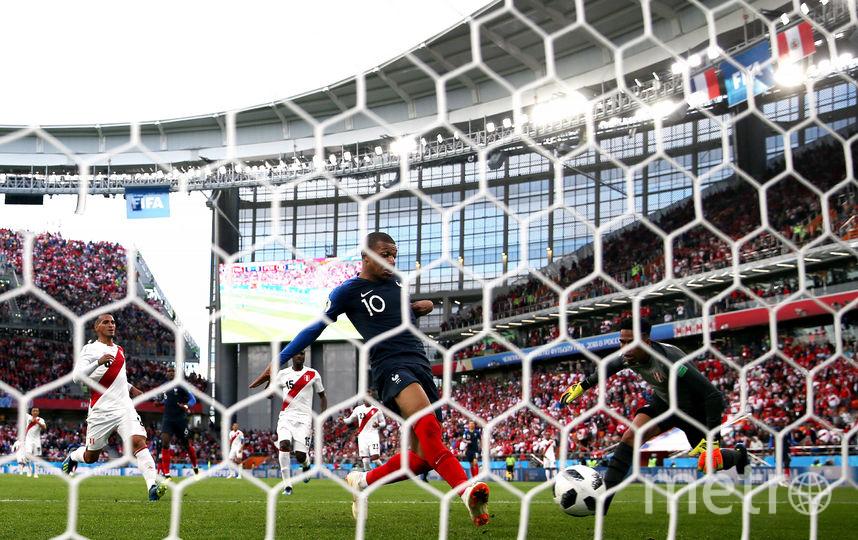 Нападающий сборной Франции Килиан Мбаппе забил единственный гол. Фото Getty