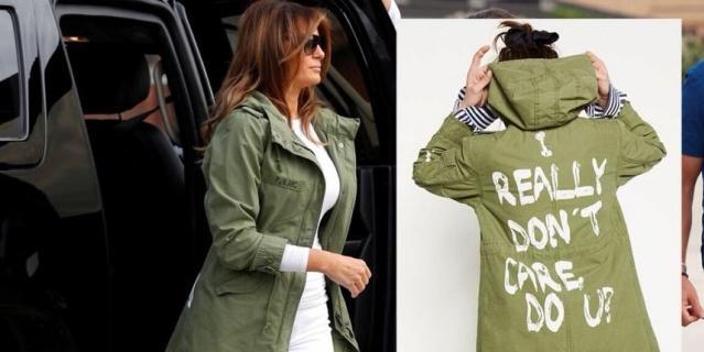 Мелания Трамп и модель в куртке бренда Zara.