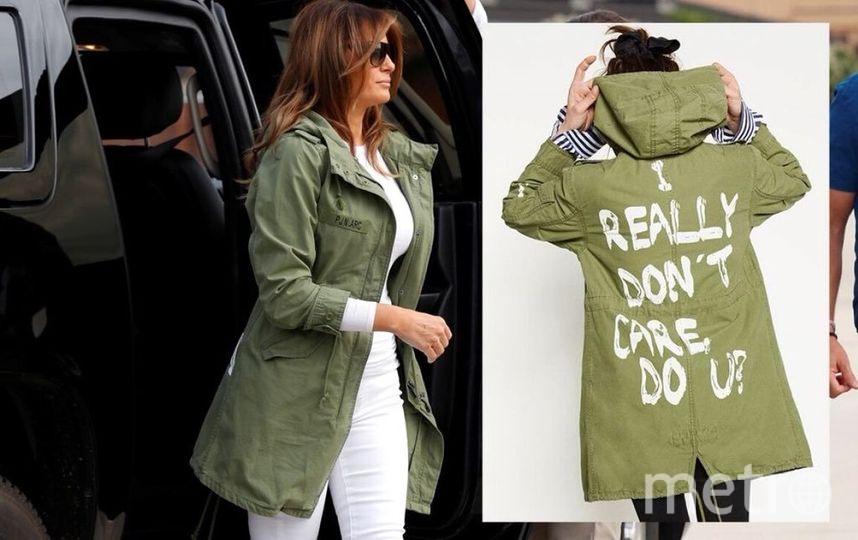 Мелания Трамп и модель в куртке бренда Zara. Фото Getty
