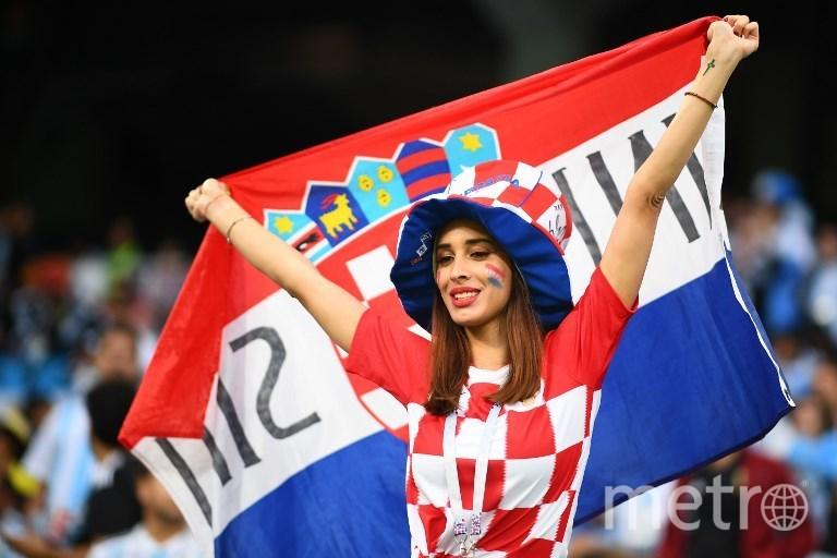 Фанатки сборной Хорватии на матче Аргентина - Хорватия. Фото AFP