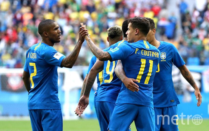 Бразильцы празднуют победу. Фото Getty