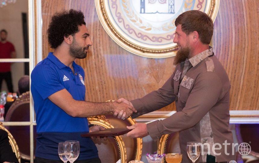 Салах стал почетным гражданином Чеченской Республики. Фото vk.com/ramzan, vk.com