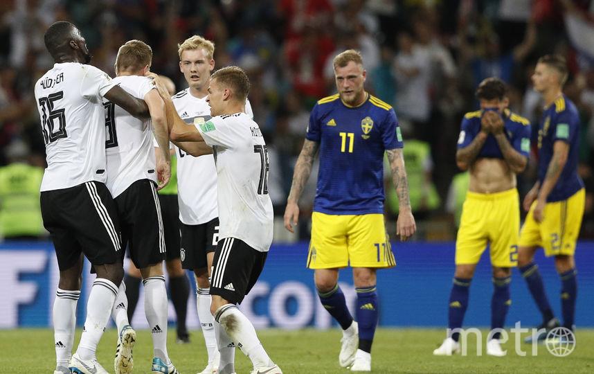 Немцы празднуют победу над шведами. Фото AFP