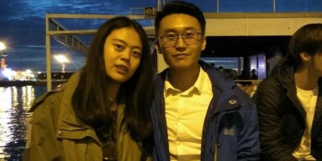 Яши, студентка из Китая, с другом.