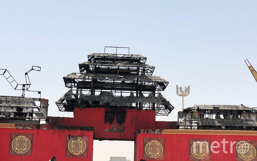 Пожар в китайском павильоне потушен. Фото Twitter @GlobalVillageAE