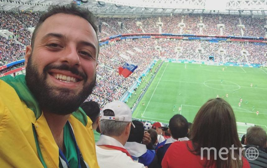 Бразильский фанат Томер Савойя. Фото Instagram/tomersavoia