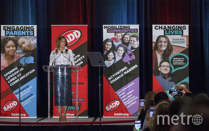 Мелания Трамп в образе учителя на встрече со студентами. Фото Getty