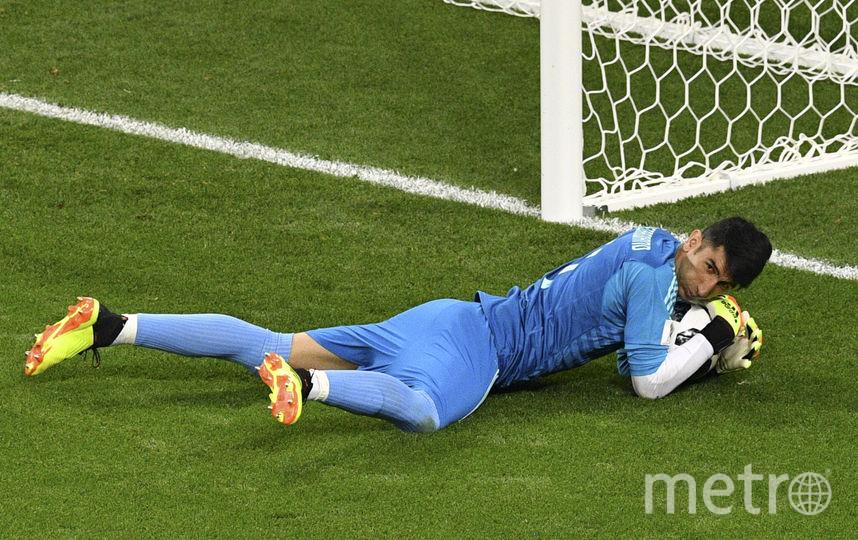 Криштиану Роналду не забил пенальти в матче с Ираном. Фото AFP