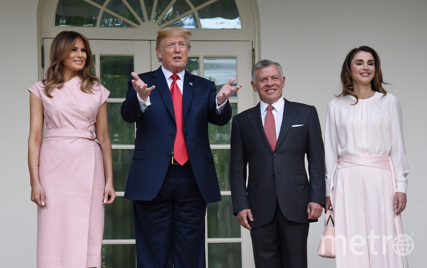 Король Иордании Абдалла II со своей супругой королевой Ранией прибыли 25 июня в Белый дом. Фото Getty