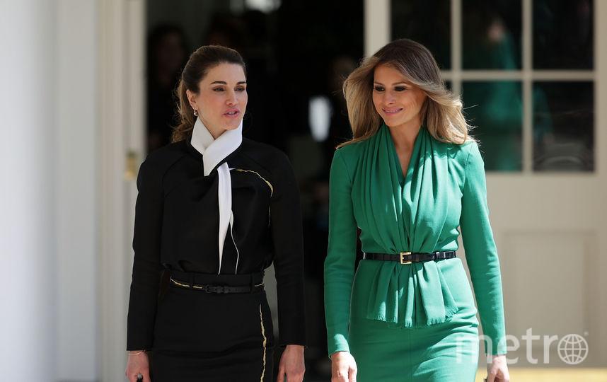 Встреча Мелании Трамп и королевы Рании в Белом доме в 2017 году. Фото Getty